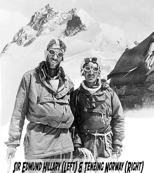 Sir Edmund Hillary Autographed Signature Card PSA /DNA Authenticated
