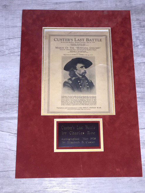 Custer's Last Battle Booklet Signed by Elizabeth B. Custer PSA/DNA Authenticated