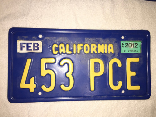Seven Psychopaths License Plate Real Prop Woody Harrelson