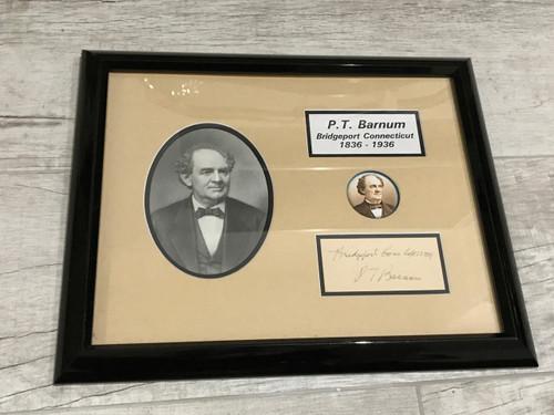P.T. Barnum Framed Ink Signature, PSA/DNA Pre-Certified