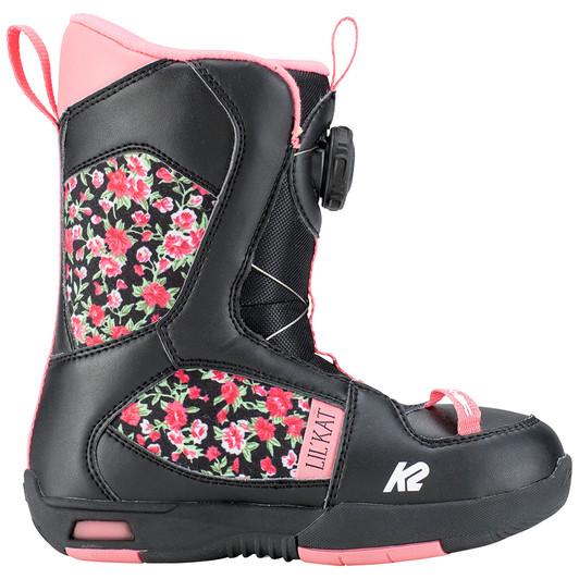 6b5a51665e 2019 K2 Lil Kat JR Black Snowboard Boots