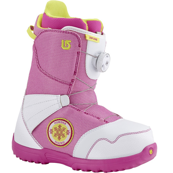 2016 Burton Zipline BOA White/ Pink Junior Snowboard Boots