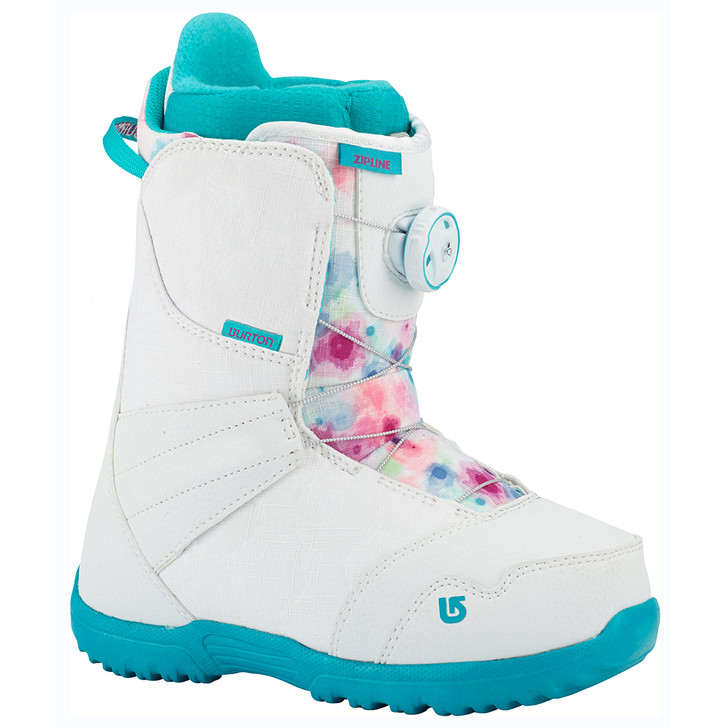2018 Burton Zipline BOA White Frostberry JR Snowboard Boots