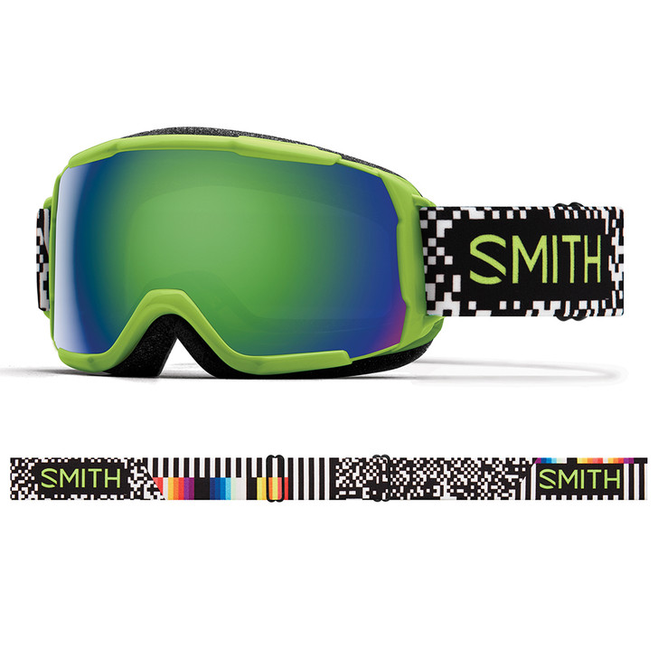 2019 Smith Grom Flash Game Over Goggle w/ Green Sol-X Mirror Lens