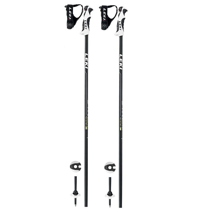 2020 Leki Spark S Lite Black Yellow Adult Ski Poles