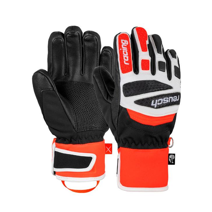 2021 Reusch Worldcup Warrior Prime Race R-TEX XT JR Black/White/Fluro Red Glove