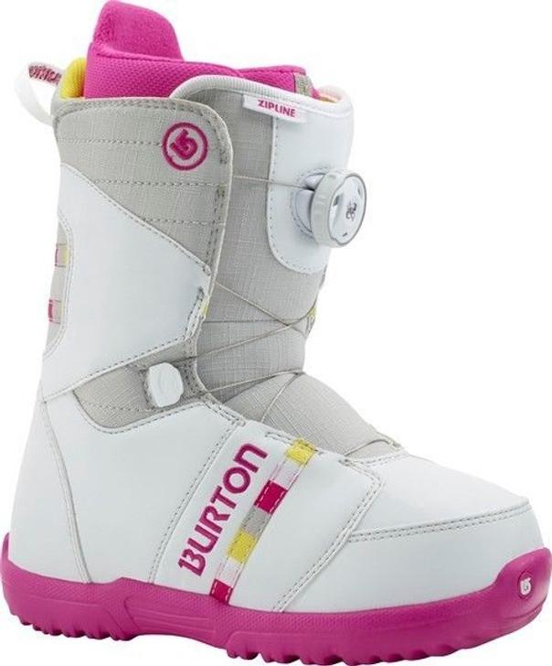 2015 Burton Zipline BOA Gray/Pink Junior Snowboard Boots