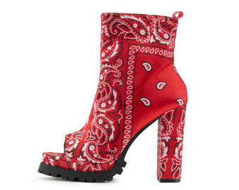 Taylor Bandana Red Bootie