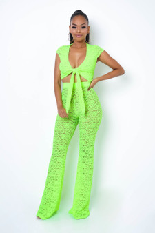 See my vision- Neon Green Cover Up set