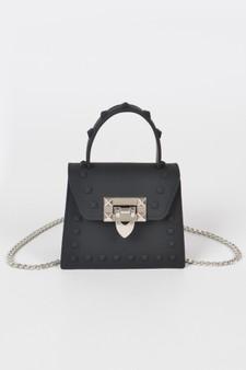 Cara Jelly Mini Handle Crossbody bag - Black