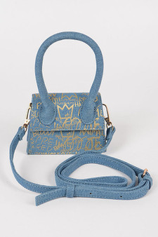 Sosa Mini denim bag - Gold
