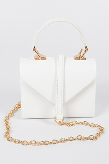 Nia Faux Leather mini handle clutch