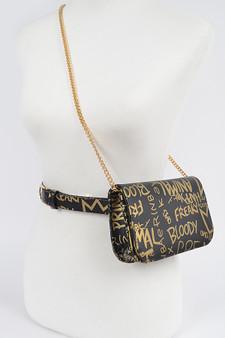 Graffiti Waist belt bag - Black