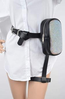 Rhinestone Thigh belt bag
