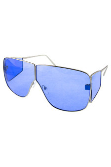 Oversized Oval Solid Blue