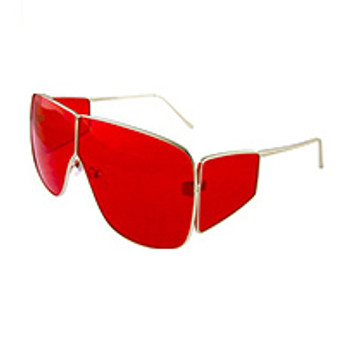 Oversized Oval Solid Red