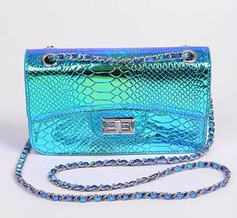 Green holo purse