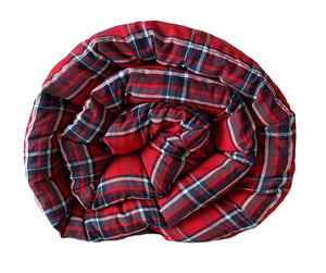 Red/Blue Plaid Cotton Weighted Blanket