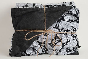 Black and White Butterflies Weighted Blanket