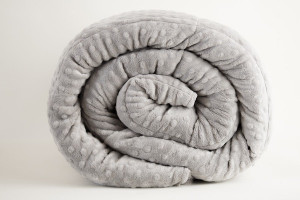 Gray Minky Weighted Blanket
