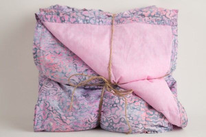 Gray and Pink Batik  Marble Weighted Blanket
