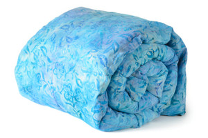 Blue Batik with purple back Cotton Mosaic Weighted blanket