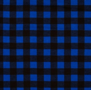 Big Blue Plaid Weighted Blanket