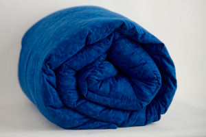 Royal Blue Marble Weighted Blanket