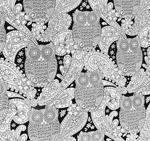 Black and White Owls Weighted Blanket
