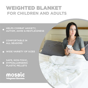 Blanca White Weighted Blanket