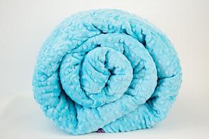 Ocean Blue Minky Weighted Blanket