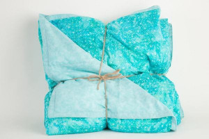 Aqua Batik Weighted Blanket