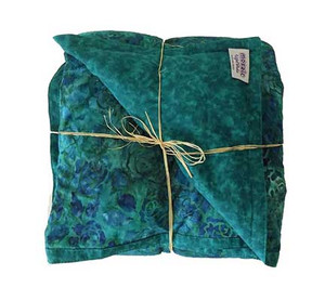 Green Roses Mosaic Weighted Blanket