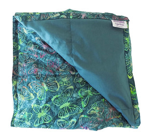 Butterflies on Teal Weighted Blanket