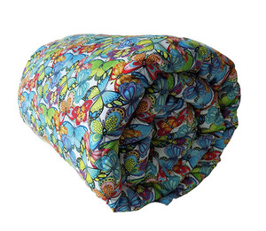 Blue & Green Butterflies Weighted Blanket