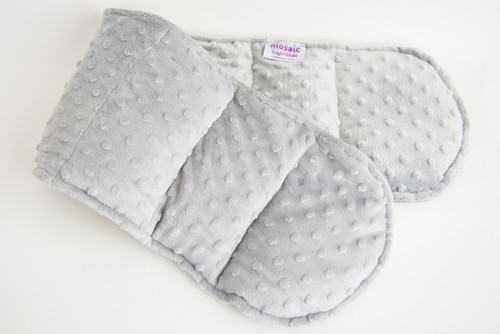 Gray Minky Weighted Shoulder Wrap 3 lbs