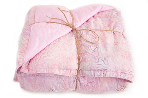 Adult Weighted Blanket with Pink Batik Material f41a6cd30