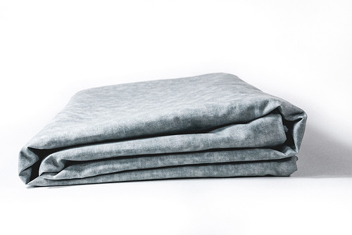 Light grey weighted blanket duvet cover