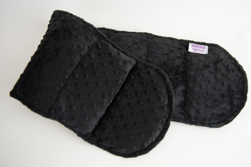 Black Minky Weighted Shoulder Wrap 3lbs