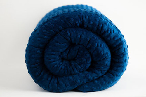 Royal Blue Minky Mosaic Weighted Blanket