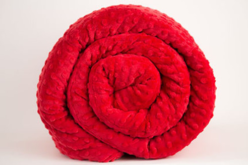 Red Minky Weighted Blanket