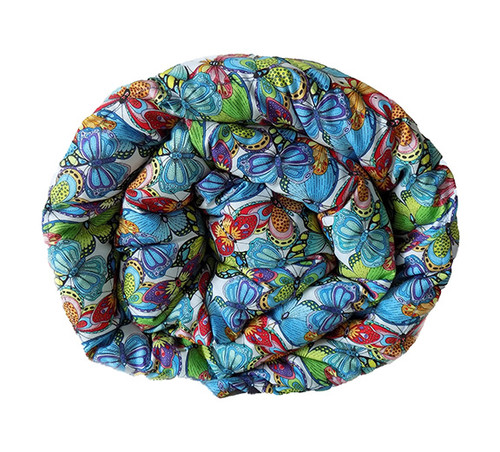 Blue & Green Butterflies Weighted Blanket