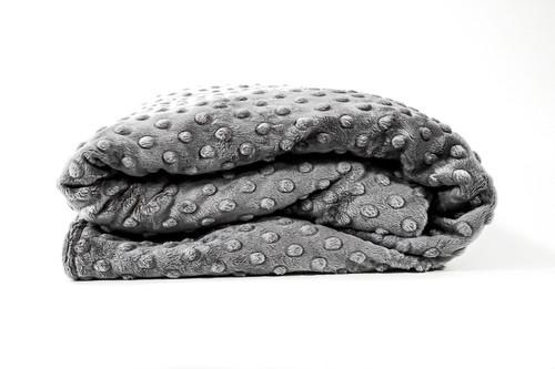 Grey Minky Duvet Cover