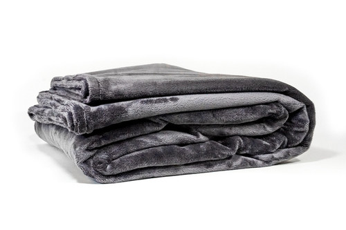 Charcoal Grey Plush Duvet Cover