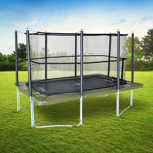XR 300 rectangular trampoline with enclosure