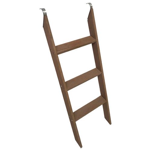 Wooden trampoline ladder