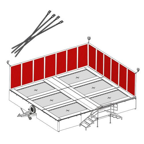 netting for traila tramp trampoline system
