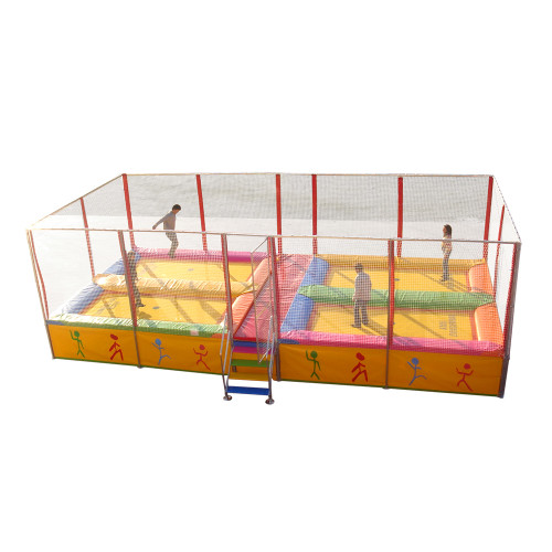 4 bed Somersault trampoline system