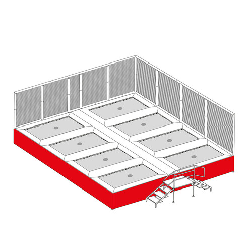 replacement skirt for somersault trampoline system