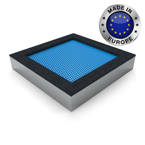 Quad 180 playground trampoline in Blue